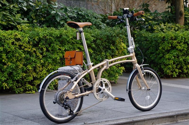 Daytona Pottering Bike / DE01電動アシストフォールディングバイク シャンパンゴールド