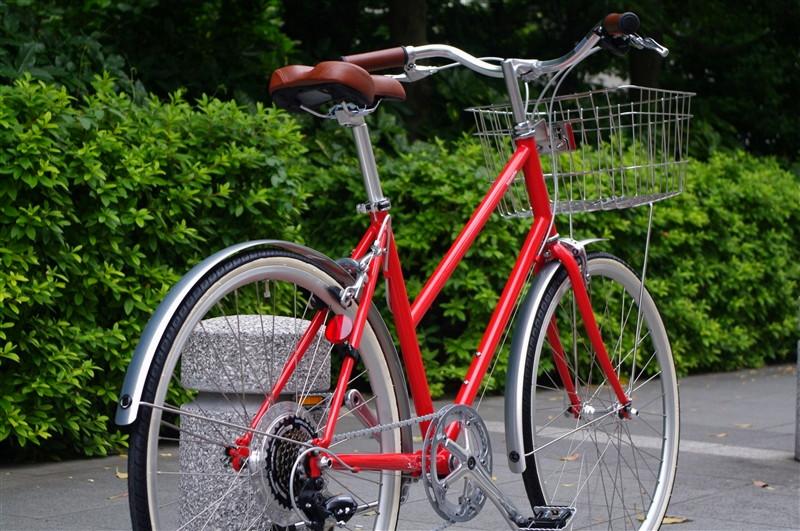 tokyobike / BISOU 26 JEFFER RED + wire basket + マッドガード