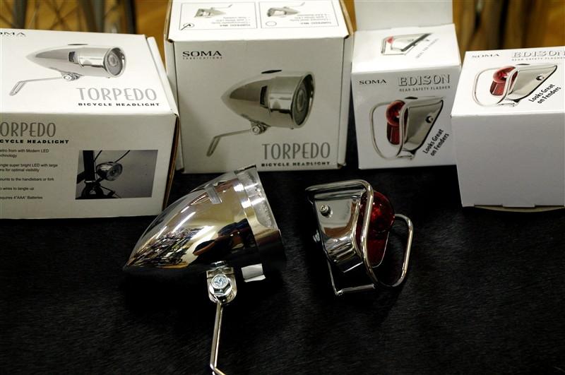 SOMA / TORPEDO HEADLIGHT & EDISON REAR SAFETY FLASHER