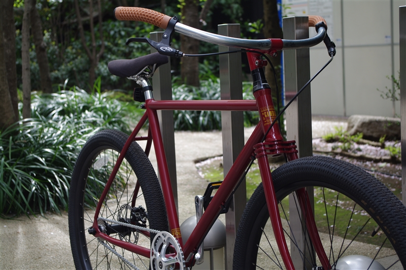 ¥92,000 ⇒¥78,200  FOLK BIKE / GAMBLER BURGUNDY + Sycip Bikes JB BAR