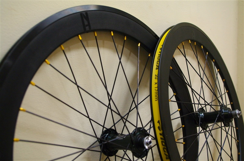 WHEEL / Gold Nipple  shimano105 + H+son 20inch 451