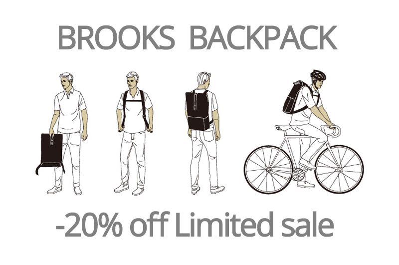 BROOKS BAGPACK SALE -20%off 在庫限り!