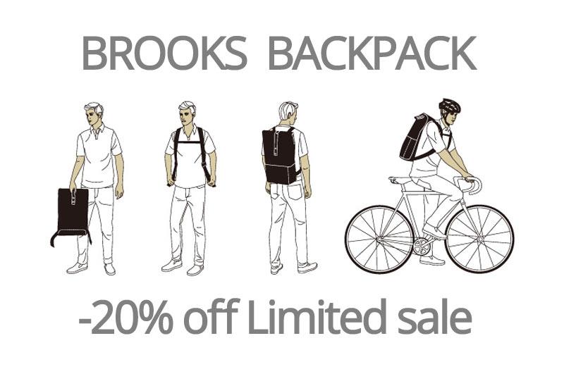 BROOKS BAGPACK SALE -20%off 在庫限り!
