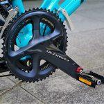 tyrellの折畳自転車fsxのアルテグラクランク画像