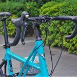 tyrellの折畳自転車fsxのハンドル前画像