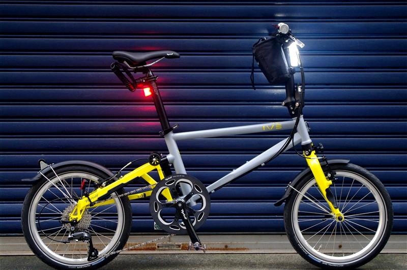 tyrell IVE GRAY×YELLOW 扱いやすいフォールディングバイク