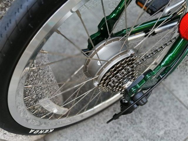 軽量な電動アシストバイクdaytona de-03の完成車