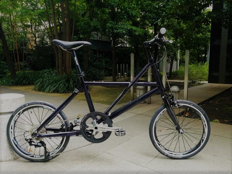 軽量な折り畳み自転車ブランドtyrellの折り畳み自転車fxのカラーオーダー完成車