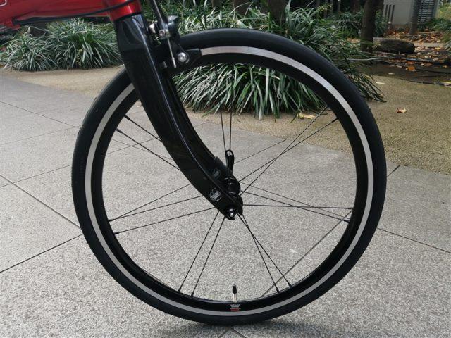 アメリカの総合ブランドkhsの折り畳み自転車f-20rcのフラットバー完成車(韋駄天ホイール仕様)