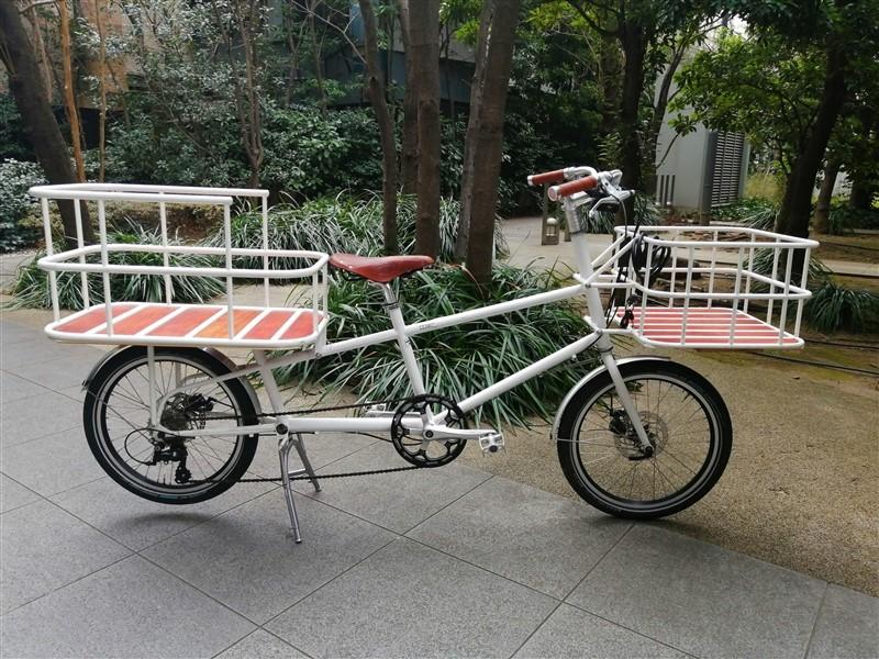 国産ハンドメイドフレームe.b.sのカーゴバイクworkの特別仕様車